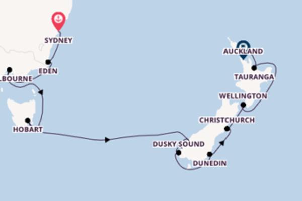 Magnifico viaggio di 15 giorni passando per Hobart