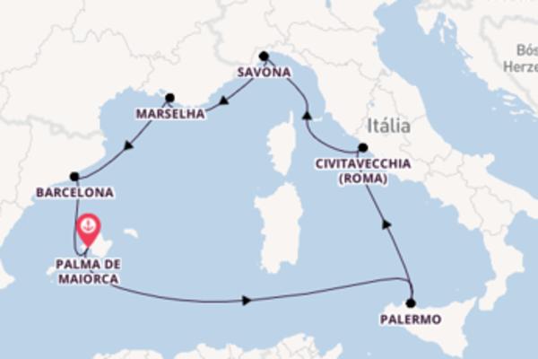 8 dias navegando a bordo do Costa Smeralda