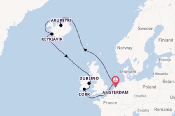 Salpando i mari da Amsterdam