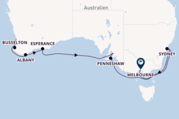 In 15 Tagen nach Melbourne über Albany