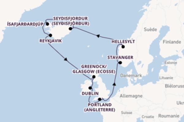 Hellesylt depuis Southampton (Londres) pour une croisière de 15 jours