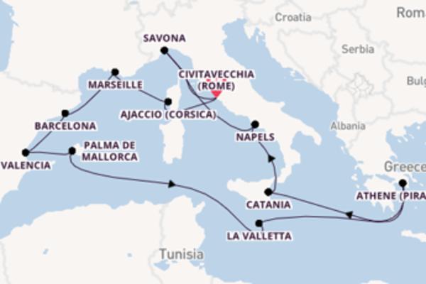In 15 dagen naar Civitavecchia (Rome)
