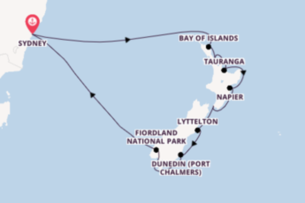 14 day expedition on board the Pacific Adventure from Sydney