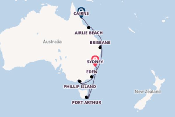 Cruising from Sydney via Mooloolaba/Sunshine Coast