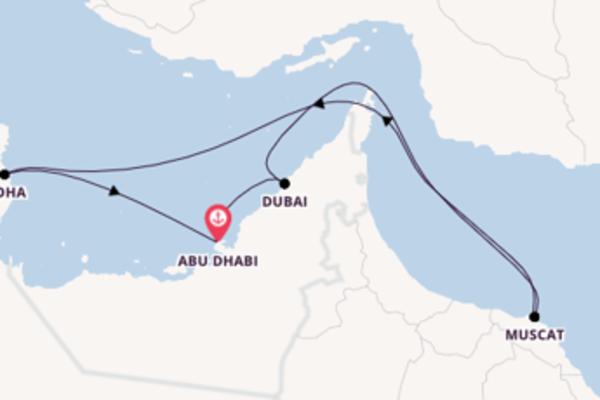 In 8 Tagen nach Abu Dhabi über Muscat