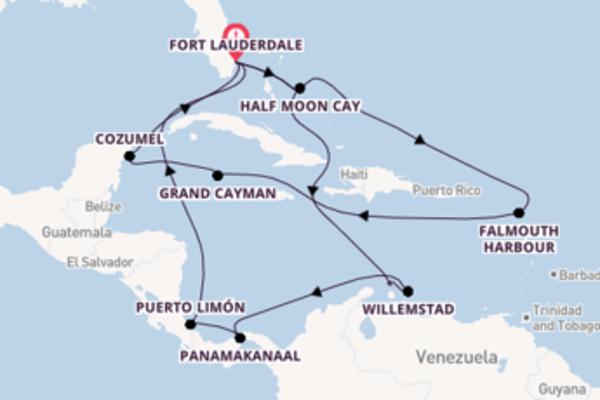 Cruise naar Fort Lauderdale via Willemstad