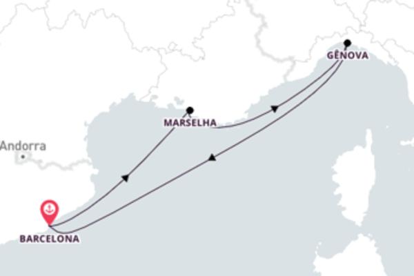 Jornada de 4 dias até Barcelona com o MSC Virtuosa