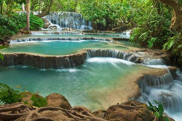 Mekong (Kuang Si-Wasserfälle), Laos