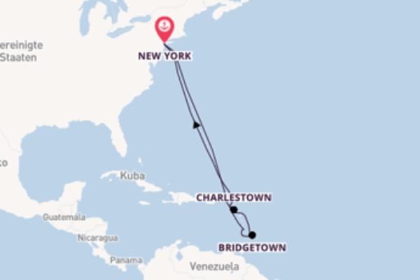 Von New York über Bridgetown in 13 Tagen