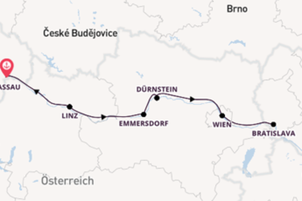 7 Tage Donau Kreuzfahrt