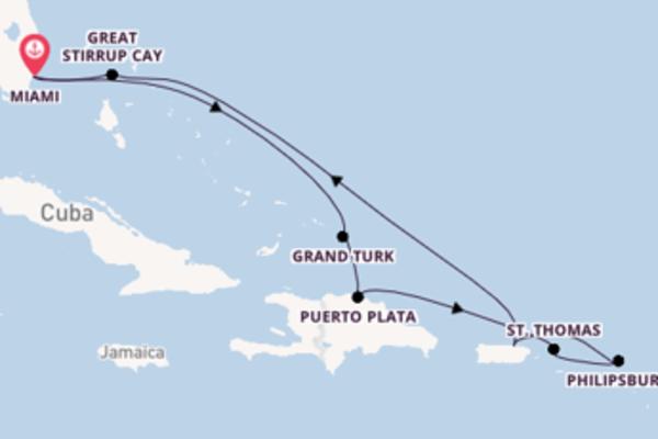 Geniet van een 10-daagse cruise naar Miami
