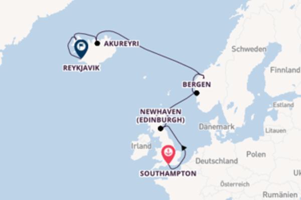 12-tägige Kreuzfahrt ab Southampton