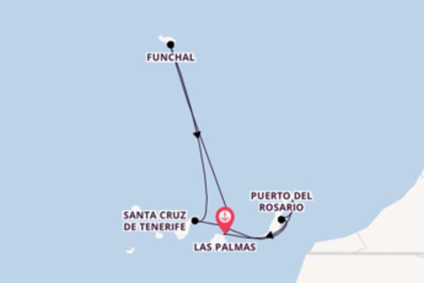 In 8 Tagen nach Las Palmas, Gran Canaria über Arrecife, Lanzarote