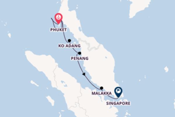 8-daagse droomcruise vanuit Phuket
