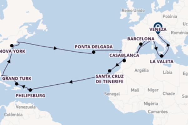 Cruzeiro de 42 dias a bordo do Costa Luminosa