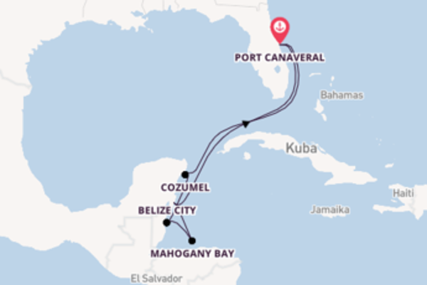 In 8 Tagen nach Port Canaveral