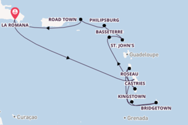 In 15 Tagen nach La Romana über Bridgetown