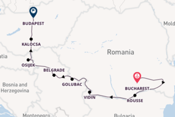 Trip with Viking River Cruises from Bucharest to Budapest