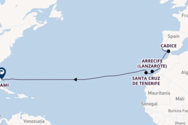 Magnifico viaggio da Lisbona verso St. Cruz de Tenerife