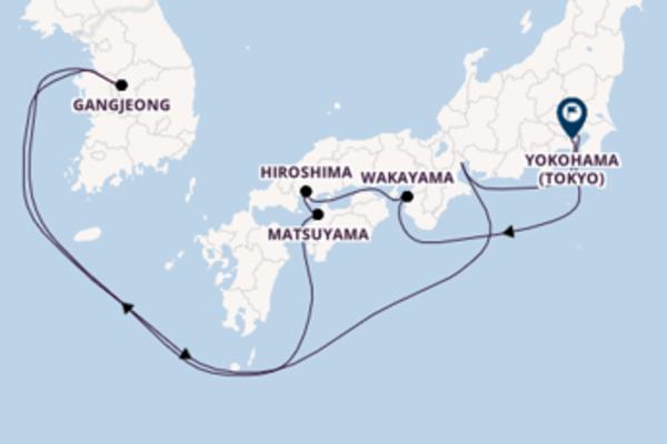 Magnifico viaggio verso Yokohama (Tokyo)