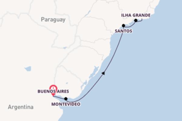 8 day expedition from Buenos Aires