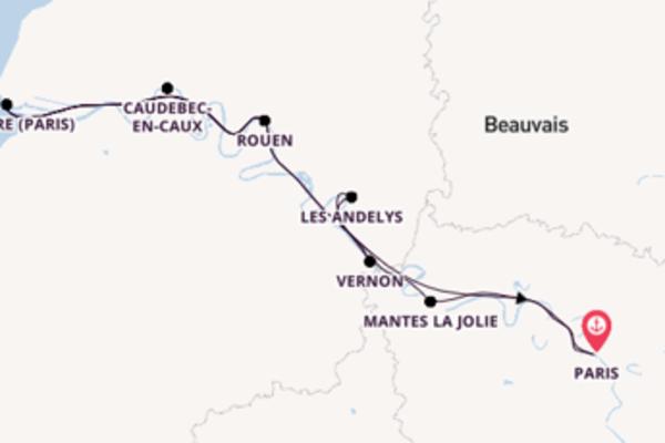 Paris und Mantes la Jolie erkunden