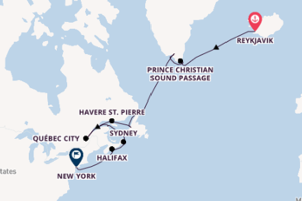 Sailing with Silversea from Reykjavik to New York