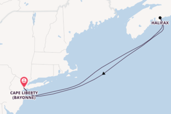 Trip from Cape Liberty (Bayonne) with the Freedom of the Seas
