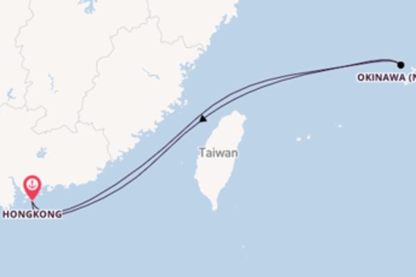 Von Hongkong über Okinawa (Naha) in 6 Tagen