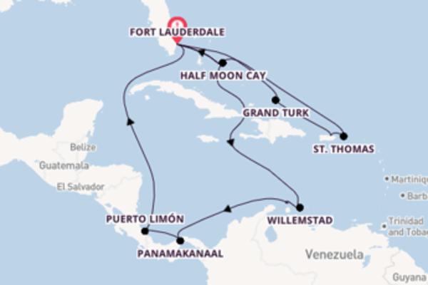 18-daagse cruise vanaf Fort Lauderdale