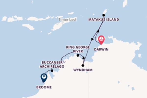 11-daagse cruise vanaf Darwin