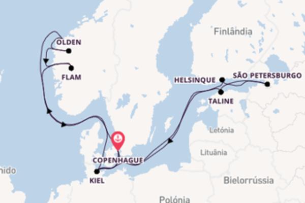 Admirável cruzeiro até Copenhague