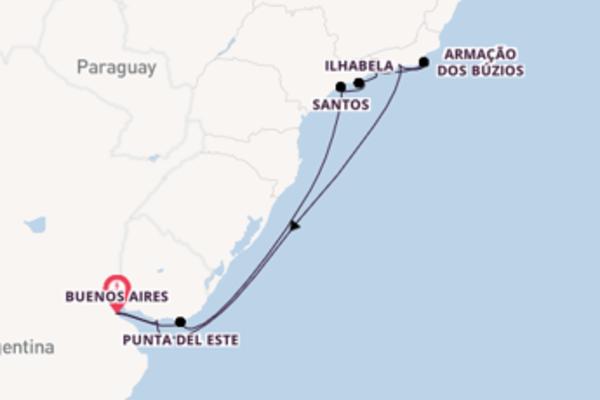 Cruise naar Buenos Aires via Santos