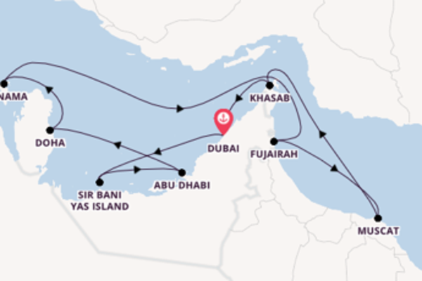 11 day cruise with the Sirena to Dubai