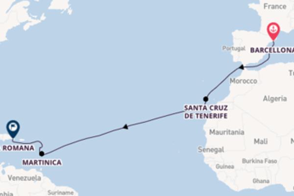 Destinazione La Romana da Barcellona
