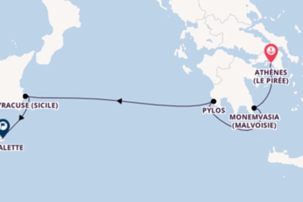 6 jours de navigation à bord du bateau Star Flyer vers La Valette