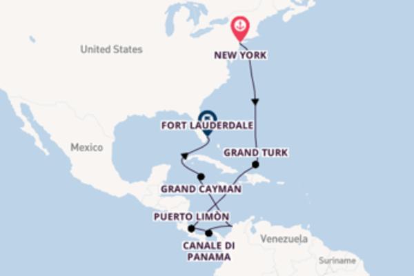 Romantico viaggio da New York verso Cartagena