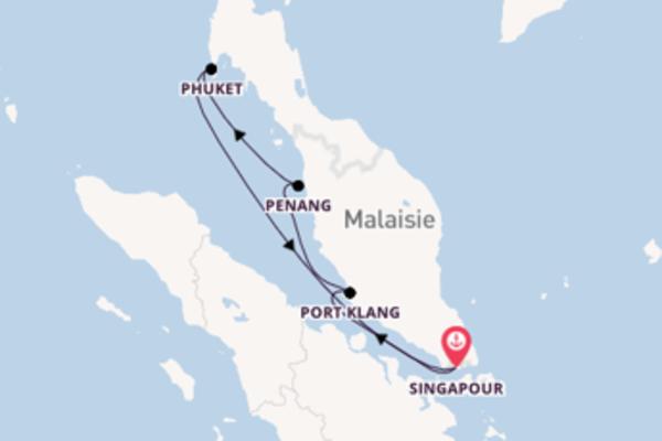 Magnifique balade au départ de Singapour