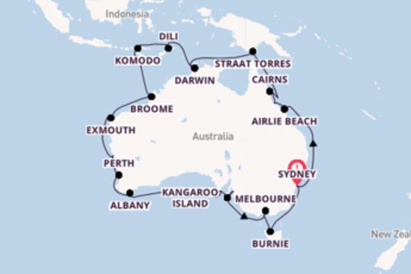 33-daagse droomcruise vanuit Sydney