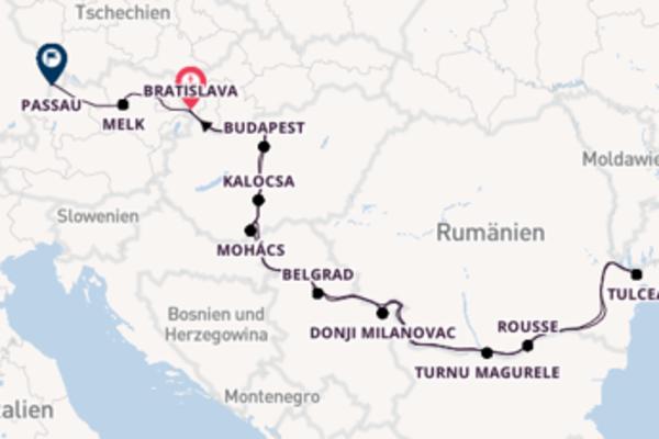 In 15 Tagen nach Passau über Kalocsa