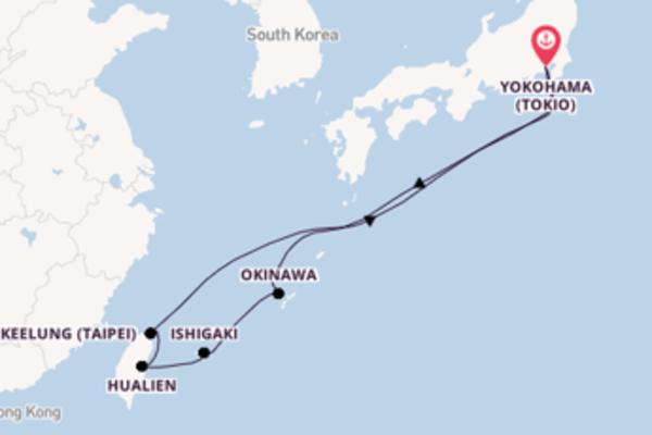 10-daagse cruise met de Queen Elizabeth vanuit Yokohama (Tokio)