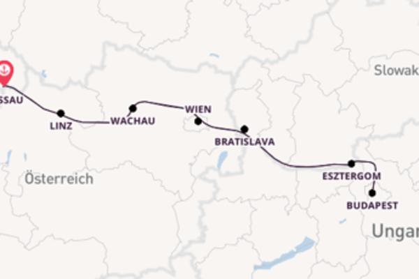 8-tägige Silvesterkreuzfahrt auf der Donau