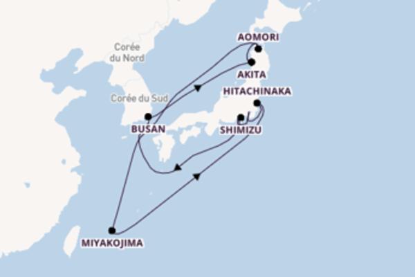 Aomori depuis Tokyo pour une croisière de 10 jours