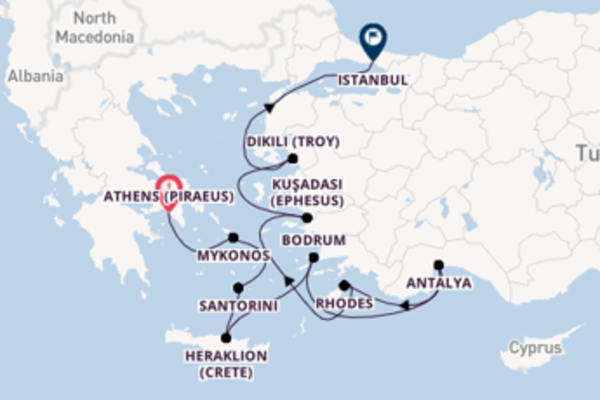11 day expedition from Athens (Piraeus) to Istanbul