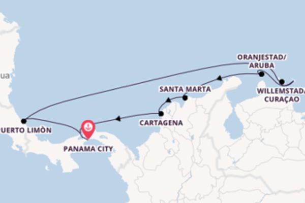Sailing from Panama City with the Norwegian Jewel