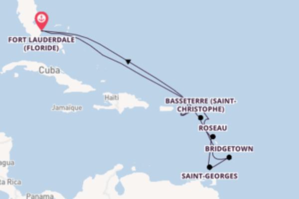 Sainte-Croix et une dépaysante croisière depuis Fort Lauderdale (Floride)