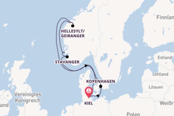 Eindrucksvolle Reise ab Kiel