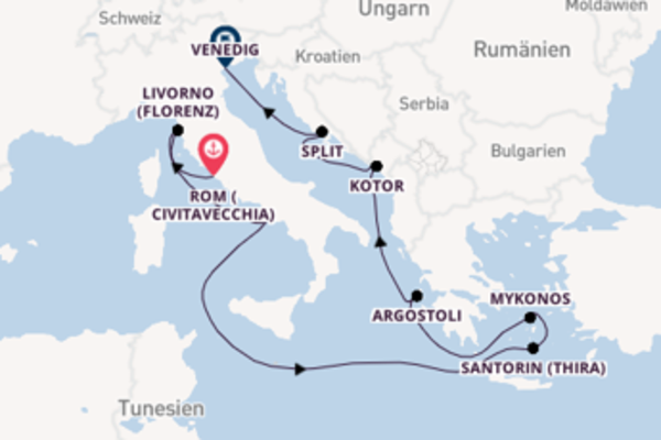 In 10 Tagen nach Venedig über Neapel