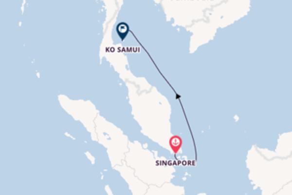 Ga mee op de Star Clipper naar Ko Samui, Thailand