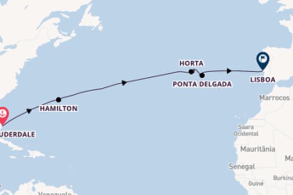 Charmoso cruzeiro de 15 dias até Lisboa